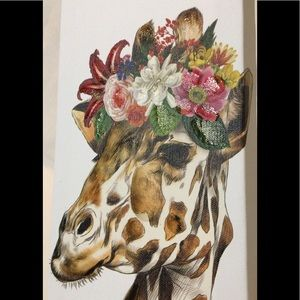 🦋New Listing🦋Giraffe with Flowers in Her Hair